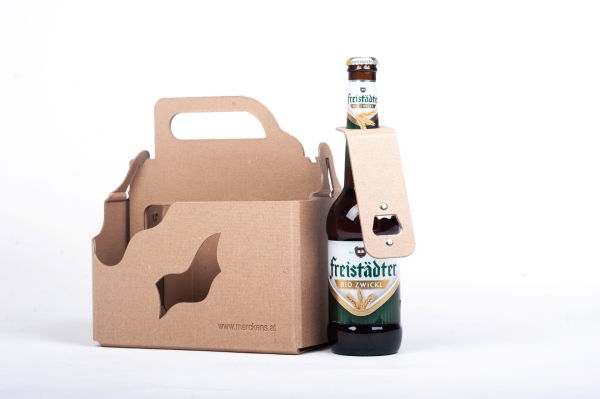 Biertragerl mit Flaschenöffner