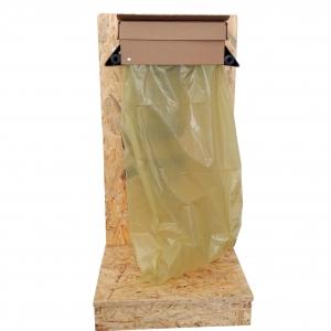 Wandhalterung Gelber Sack inkl. Holzsockel