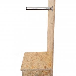 Holzsockel für Wandhalterung Gelber Sack